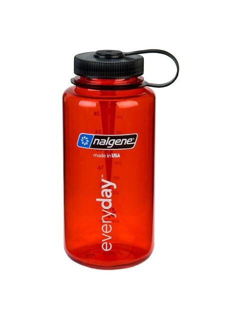 Nalgene 1L Wide Mouth Bottles Red Tritan (2023)